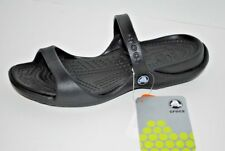 NWT NEW CROCS CLEO BLACK sandals slides shoe 6 7 8 9 10