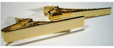 PLAIN TIE CLIP- TIE BAR - GOLD PLATED 2 WIDTHS AVAIL