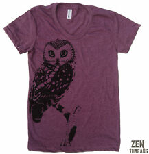 Women's URBAN OWL tee t shirt american apparel S M L XL