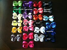 """BOUTIQUE HAIR BOW WITH KNOT IN CENTER 3"""" ~U PICK COLOR!"""