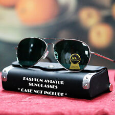 NEW MENS AVIATOR SUNGLASSES COP PILOT GREEN GLASS LENS