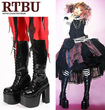 Gothic Goth Vamp Punk Lolita Lace Up Platform Knee Boot