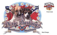 DIXIE DARLING, Southern Sweetheart, Two Cute Puppies, New White T-Shirt