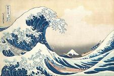 The Great Wave off Kanagawa & FREE Print by Katsushika Hokusai Painting Picture