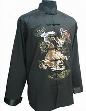Chinese Men's Dragon Kung Fu Party Jacket/Coat Black Size: M L XL XXL XXXL
