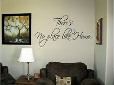 Vinyl Wall Art There's No place like Home  Words Decals Stickers Decor Letters