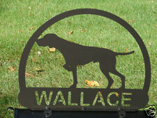 POINTER HUNTING DOG MAILBOX TOPPER METAL ADDRESS SIGN PET PERSONALIZED PET LOVER