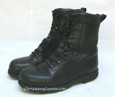 GERMAN ARMY SURPLUS BLACK LEATHER  Gde 1 COMBAT PARA BOOTS-MILITARY/NOT GORE-TEX