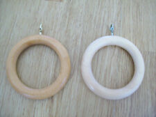 10 X LARGE WOODEN/WOOD CURTAIN DRAPERY POLE RINGS