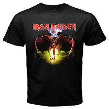 New IRON MAIDEN Heavy Metal Rock Band Mens Black T-Shirt Size S - 3XL