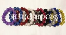 NEW Bling Hoops Resin Rhinestone Bracelets Basketball Wives Poparazzi