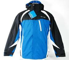Columbia Omni Shield Conundrum 3 in 1 Hooded Parka Blue & White Ski Jacket NWT