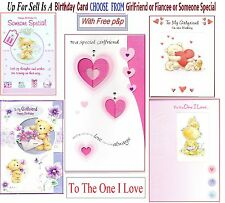 GirlFriend Fiancee Lady One I Love Someone Special Birthday Card To For Free P&P