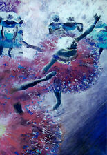 Ballet Decorative Painting Poster. Fine Graphic Art. Wall Interior Design. 2274