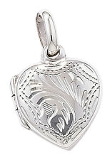 Sterling Silver Small Engraved Heart Locket *SE329A