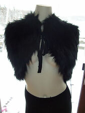 NWT $58 Simply Vera Wang Womens Size S M L XL Black Bolero Faux Fur Shrug Vest
