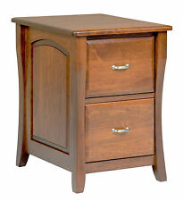 Amish File Cabinet Solid Wood Wooden Vertical Office Home 2-Drawer New