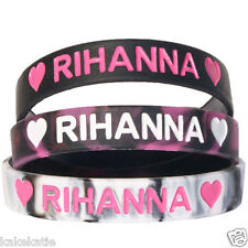 RIHANNA wristband silicone bracelet / wrist band bangle gift fashion pop star