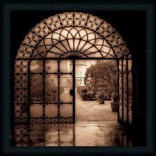 Courtyard in Venezia by Alan Venice Italy Framed Art Print Wall Décor Picture