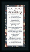 God's Word for Our Soldier by CTArt Psalms 91 Sign Framed Art Print Wall Décor
