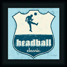 Head ball Soccer by Peter Horjus Boys Room Sign 12x12 Framed Art Print Picture