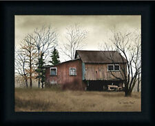 Tractor Barn by Billy Jacob Old Red Barn Country Framed Art Print Décor 12x16