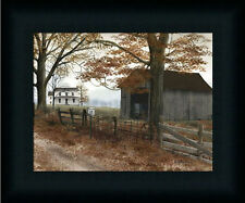 Old County Road by Billy Jacobs Autumn Landscape Country Road Framed Art  8x10
