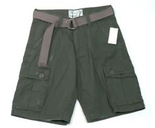 Seven 7 Premium Brand Vintage Cargo Shorts & Belt Military Green Mens NWT