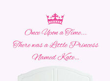 Once Upon a Time Princess Kate Wall Sticker Decal Bed Room Art Girl/Baby
