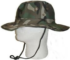 Boonie Fishing Hiking Snap Brim Army Military Bucket Sun Hat Cap-Camo