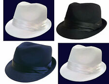 FEDORA  TRILBY GANGSTER FEDORA BUCKET HAT MEN WOMEN CAP With Band