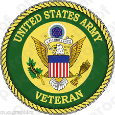 STICKER US ARMY VET SERVICE VETERAN B