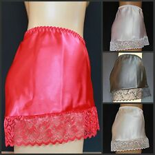 SEXY Poly SATIN and Lace LUXURY French Knickers All Sizes and Colours