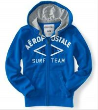 NEW Aeropostale Surf Team Mens Blue Zip Up Sweatshirt Hoodie Jacket L XL XXL 3XL
