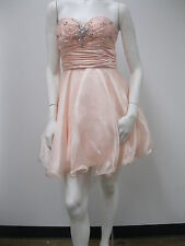Beaded Strapless Sweetheart Organza Prom/Homecoming/Cocktail Short Dress