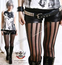 Runway Fashion Punk Gothic Opaque Sheer Stripe Tights Sliming Pantyhose