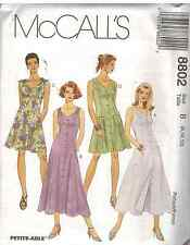 8802 Vintage McCalls SEWING Pattern Misses Sun Dress UNCUT Summer Spring FF OOP