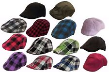 Kids IVY Plaid Newsboy Duckbill Cabbie Children Boy Girl Cap Hat