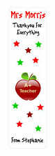 Teacher | Teaching Assistant | Dinner Lady Personalised Bookmark Gift Present