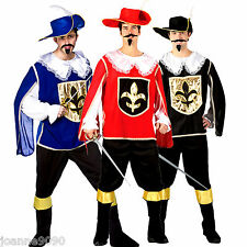 MENS ADULT THREE MUSKETEERS CAVALIER FANCY DRESS COSTUME HAT STAG BOOT COVERS