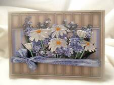Handmade Greeting Card - 3D Shelf Pop Up Daisies & Forget Me Nots