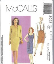UNCUT McCalls Sewing Pattern Misses Ladies Dress Lined Jacket 3095 NEW OOP SEW