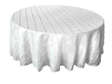 "Pintuck Tablecloths 120"" Round"