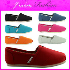 NEW LADIES DUNLOP FLAT CANVAS ESPADRILLE TRAINERS PLIMSOLE SNEAKERS SIZES UK 3-8
