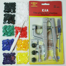 KAM Snap Pliers Starter Kit 10 Sets w/ Awl For Bibs Diapers Crafts Clothes