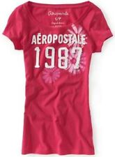 NEW Pink Aeropostale Womens Aero Flower Open Crew Neck Graphic Tee Shirt Sz XL