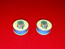 Dream Catcher Logo Single Flared Acrylic Ear Plugs Sizes. ( 2 Gauge to 1 inch )