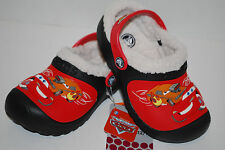 NWT CROCS KIDS MAMMOTH CARS MCQUEEN RACING 8/9 10/11 12/13 1/3 CLOGS lined shoes
