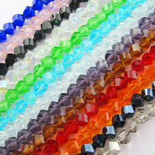 4mm 6mm 8mm Faceted Helix/Twist Glass Crystal Rondelle Loose Spacer Beads