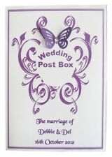 PERSONALISED WEDDING POST BOX CARD  LABEL various colours